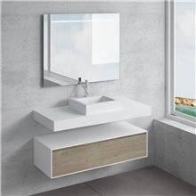 Ensemble plan de toilette + vasque à poser GALATEA NATUGAMA
