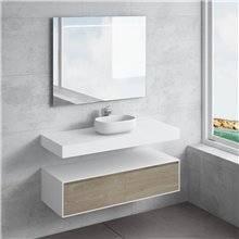 Ensemble plan de toilette + vasque à poser NEREIDA NATUGAMA