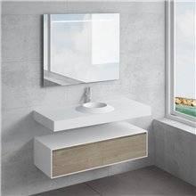 Ensemble plan de travail + lavabo CORUS NATUGAMA