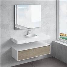 Ensemble plan de travail + lavabo JUNO NATUGAMA
