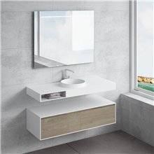 Ensemble plan de travail + lavabo JUNO tiroir...