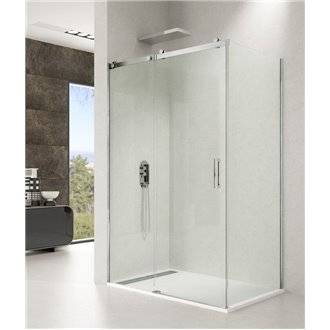 Pare-douche d'angle 1 porte coulissante ROTARY GME