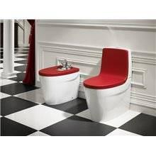 WC complet réservoir bas rouge Khroma Roca
