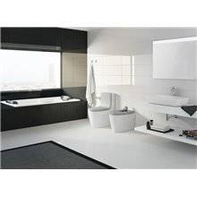 WC complet réservoir bas gris Khroma Roca