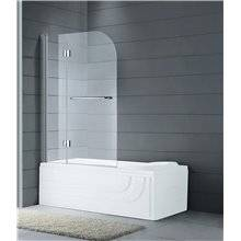 Pare-baignoire frontal porte pivotante et rabattable GLASS GME