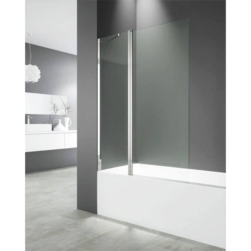 Pare-baignoire frontal fixe + porte pivotante OPEN GME