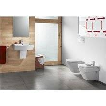 Lavabo demi-colonne edelweiss Hall 65 x 49,5 cm Roca