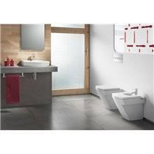 Vasque à poser graphite sans perçage pour robinet Hall Roca