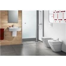 WC compact réservoir haut beige Hall Roca