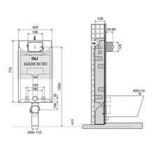 Réservoir encastré OLI120 PLUS Simflex Hidroboost