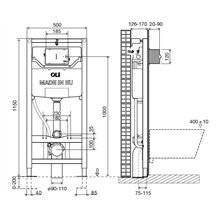 Réservoir encastré OLI120 PLUS Sanitarblock Hidroboost