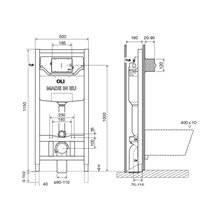 Réservoir encastré autoportant et mécanique OLI120 PLUS Sanitarblock