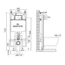 Réservoir encastré mécanique OLI74 PLUS 90 Sanitarblock